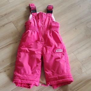2/$12 Girls 12 month Children's Place snow pants